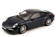 MINICHAMPS 2012 Porsche 911/991 Carrera S Blue 1:18 Rare Dealer Edition*New!