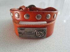 Diesel Jeans tan brown Leather Cuff Bracelet Watch Band wrist mens womens shoes