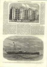 1866 Isle Of Man Steamboat Tynwald Palmerston Buildings City Road
