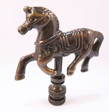 Lamp Finial Bronze High Stepping Horse (E19)