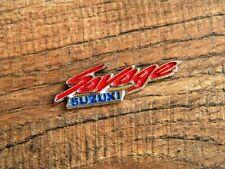 "SUZUKI SAVAGE MOTORCYCLE VEST PIN ~1-5/8"" x 1/2"" LAPEL HAT BADGE BROCHE BIKER"
