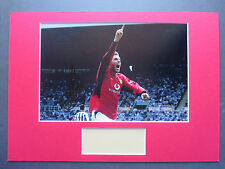 MANCHESTER UNITED RUUD VAN NISTELROOY HAND SIGNED A3 MOUNTED PHOTO DISPLAY - COA