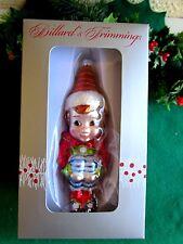 DILLARD'S DEPT STORE BLOWN GLASS ELF/PIXIE KNEEHUGGER CHRISTMAS ORNAMENT NIB