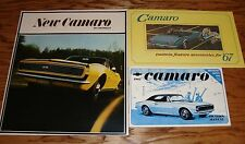1967 Chevrolet Camaro Owners Manual Accessories Sales Brochure Lot of 3 67 Chevy