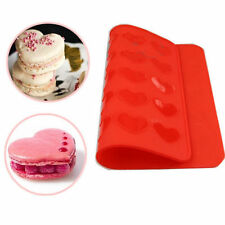 Heart Silicone Macaron Macaroon Pastry Cake Cookies Muffin Oven Baking Mat Mould