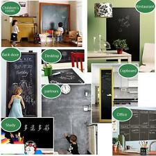 Removable Vinyl Wall Decal Chalkboard Stickers Self-adhesive Blackboard + 5Chalk