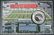 NEW ENGLAND PATRIOTS NFL SILVER PLATED MEDALLION 0 Gillette Stadium -5000 Minted
