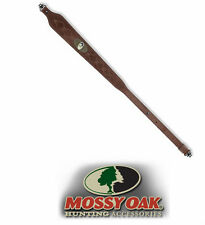 Mossy Oak Rifle Sling - Genuine Leather - Heavy Duty - With Quick Detach Swivels