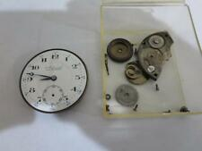 VINTAGE 12 SIZE ADMIRAL POCKET WATCH MOVEMENT & DIAL 15 JEWELS FOR PARTS REPAIRS