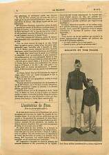 Goliath & Tom Pouce Soldats Régiment d'Infanterie France 1910 ILLUSTRATION