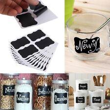 New Easy 36x Small Chalk Black board Mason Jar Labels Stickers Chalkboard Hot
