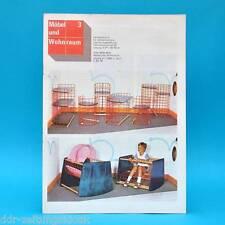 DDR Möbel und Wohnraum 3/1988 See-Casino Leipzig Anbauwand 5075 Messe Budapest