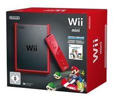 Nintendo Wii Mini Grundgerät mit Spiel Mario Kart,Wii Fernbedinung Plus,Nunchuck