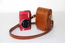 brown /tan leather case bag to Panasonic ZS20 ZS8 FH27 FH25 TS20 FT20 3D1 camera
