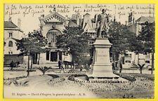 cpa 49 - ANGERS Statue A David d'ANGERS Le grand SCULPTEUR SALLE des ARTS