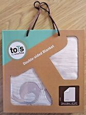 toTs by smarTrike Double sided blanket Grey 75cm x 100cm NEW and UNOPENED BNIB