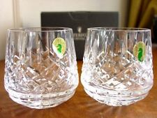 Waterford Crystal ARAGLIN Roly Poly Tumblers SET / 2  Pair IRELAND - NEW / BOX!