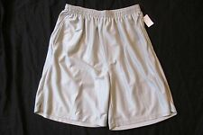 New Men's Graphite Sport Silver Basketball Athletic Gym Shorts Size Large