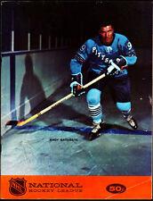 1968 Oakland Seals v Pittsburgh Penguins Game Program vtg NHL Hockey Gordie Howe