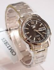 SNKK81K1 SEIKO 5 Stainless Steel Band Automatic Men's Black Watch Brand New !!