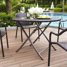 Outdoor Patio Furniture Palm Harbor Outdoor Wicker Folding Table Patio Dining