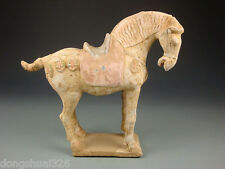 Ancient Chinese Rare Tang Dynasty Terracotta Colour Pottery Aga War Horse