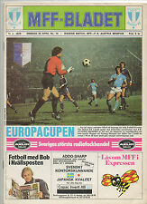 Orig.PRG   EC 1   1978/79    MALMÖ FF - AUSTRIA M.WIEN   1/2 FINALE  !!  SELTEN