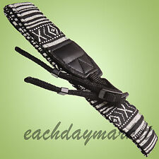 Retro Vintage style stripe camera shoulder neck strap DSLR Nikon Canon Panasonic
