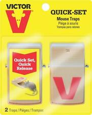 NEW VICTOR M130 PK (2) QUICK AND EASY SET SAFE USE ONE CLICK MOUSE TRAPS 6779656