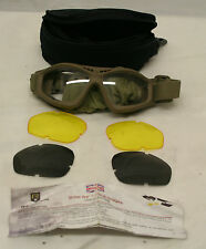 Genuine MoD Issue British Army Revision Bullet Ant Ballistic Goggles Tan