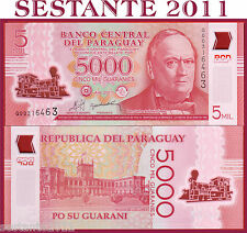 PARAGUAY -  5000   5.000  GUARANIES 2011 POLYMER   -   P NEW   -   FDS / UNC