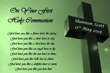 First Holy Communion/Confirmation Day Keepsake Gift Personalised God Poem