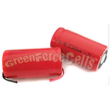 10 Pcs SubC Sub C 3400mAh NiMH Rechargeable Battery with Tab Red