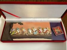 Disney Snow White & Seven Dwarfs Pin Set Boxed Diamond Collectors Set.pack Bag