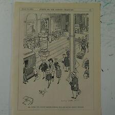 """7x10"""" punch cartoon 1925 MR JONES COVENT GARDEN PORTER"""