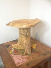 Teck tree root side table coffee bois sculpté reclaimed plant cake stand No.1