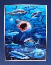 SHARKS JAWS AMAZING LENTICULAR 3-D HOLOGRAM ART PICTURE