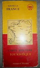 RARE SHELL MAP - 1955 CARTE ROUTIERE - FRANCE - TOURIST ROUTE MAP - Superb, 2792