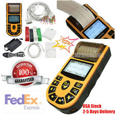 12-lead Digital 1-channel Electrocardiograph Handheld ECG/EKG Machine + Software