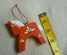 """Vintage Wood Wooden Christmas Tree Ornament •  Horse • Pony • 3"""" • Great Cond"""