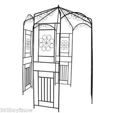 250cm Stable Wrought Iron Rose Arch Lovely Seating Area Dark Green For Summer