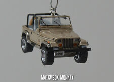 1993 Jeep Wrangler Sahara Open Top Custom Ornament 1/64 XJ YJ Sand Beige Tan