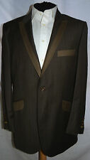 VENICE -BESPOKE TAILORED ELEGANT/UNIQUE/JAZZY BROWN STRIPED BLAZER UK 42 EU 52