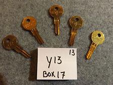 Set of 5 key blank uncut blade Y13 key 22R, YA-44, 9119A, YAL11L YA4R, YJ5.