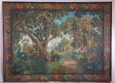 """HUGE MUSEUM QUALITY WPA ASHCAN SCHOOL LANDSCAPE PAINTING by A. TURIN 100""""x74"""""""