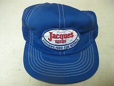 COLLECTIBLE BLUE JACQUES SEEDS FARMERS FEED WORLD ADJUSTABLE  BASEBALL CAP HAT