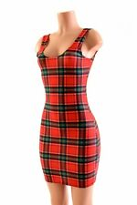 SMALL Red/Green Plaid Spandex Bodycon Tank Dress NWT Ready To Ship!