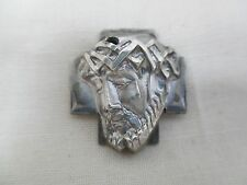 Vintage Handcrafted Sterling Silver Jesus Weeping w/ Crown of Thorns Pendant