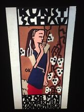 """Oskar Kokoschka """" Exhibition Poster 1908"""" Austrian Modern Art 35mm Slide"""