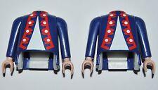 12559 Cuerpo y brazos casaca azul con ensenada 2u playmobil,body,blue jacket